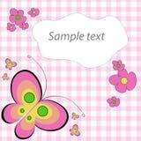 Butterflies card Stock Photography