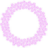 Butterflies circle border frame Royalty Free Stock Images