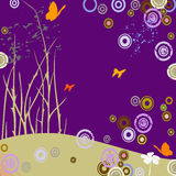 Butterflies and circles Royalty Free Stock Photography