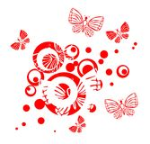 Butterflies and circles royalty free illustration