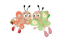 Butterflies, CMYK Stock Image