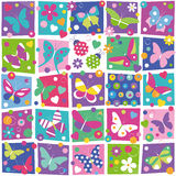Butterflies collection pattern Stock Images