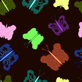 Butterflies on a colored background. Butterfly with a pattern on a colorful background Stock Photo