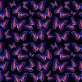 Butterflies Dark Pattern Royalty Free Stock Image