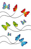 Butterflies for design Stock Images