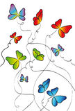 Butterflies for design Stock Image