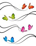Butterflies. Elements for design. Stock Photography