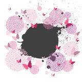 Butterflies and Floral Design Elements Royalty Free Stock Photo