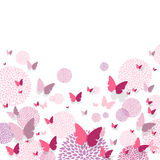 Butterflies and Floral Design Elements Stock Photo