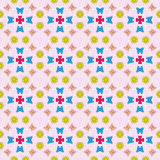 Butterflies and flower pattern stock illustration