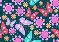 Butterflies & Flowers Stock Image