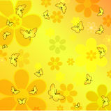 Butterflies and flowers. Illustration of butterflies and flowers Stock Photo