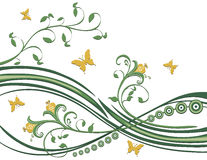 Butterflies Flowers Foliage stock illustration