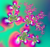 Butterflies and flowers fractal Stock Images