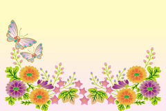 Butterflies and flowers-Japanese style Royalty Free Stock Photos