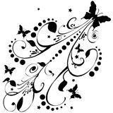 Butterflies Flowers Stars Art royalty free illustration