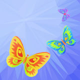 Butterflies Fly in the Sky, Low-Poly Stock Photo