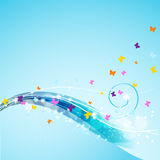 Butterflies flying Royalty Free Stock Images