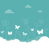 Butterflies flying in the sky. Stock Photography