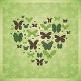 Butterflies forming heart. Beautiful card with butterflies forming a heart shape Stock Photos