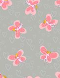 Butterflies-girls - seamless pattern Royalty Free Stock Images