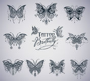 Butterflies graphic illustration Royalty Free Stock Photo