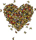Butterflies Heart Stock Photo