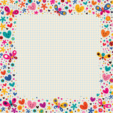 Butterflies & hearts border Stock Photos