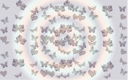 Butterflies and hearts illustration Royalty Free Stock Photography