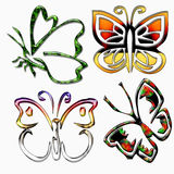 Butterflies icons Royalty Free Stock Image