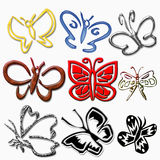 Butterflies icons Royalty Free Stock Photography