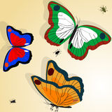 Butterflies illustration Stock Photography