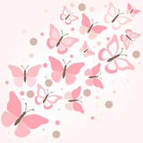 Butterflies - illustration, . Royalty Free Stock Photography