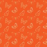 Butterflies insect seamless background, pattern. Seamless pattern with colorful butterflies. Bright and unique nature background for websites, children and woman Stock Photography