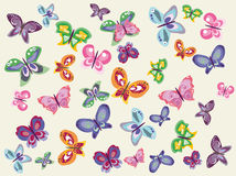 Butterflies kit Royalty Free Stock Photography