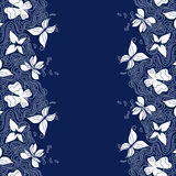 Butterflies Lines Border Stock Images