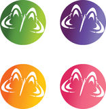 Butterflies logos Stock Image