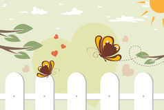 Butterflies in love Royalty Free Stock Image
