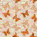 Butterflies Low Poly Pattern Stock Image