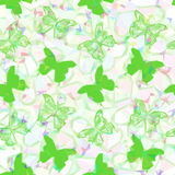 Butterflies Low Poly Pattern Royalty Free Stock Images