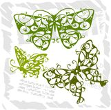 Butterflies in Modern Style - Set 1. Stock Images