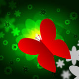 Butterflies Nature Means Bouquet Countryside And Flower Royalty Free Stock Photos