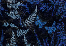Butterflies in the night. Royalty Free Stock Images