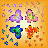 Butterflies on orange Stock Photo