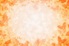 1000 Butterflies Orange Background. Illustration of 1000 Butterflies on orange gradient Background vector illustration