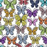 Butterflies ornate, seamless pattern for your Stock Image
