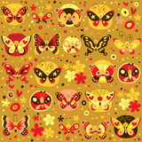 Butterflies pattern Royalty Free Stock Photos