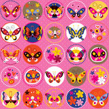 Butterflies pattern Stock Photo