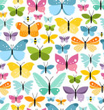 Butterflies pattern Stock Images