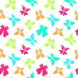 Butterflies Pattern Color Big Stock Photography
